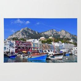 The Beach in Capri, Italy Rug