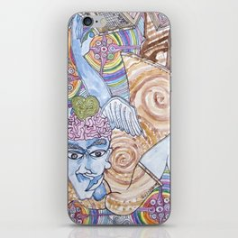 Blue Man & Dead Head iPhone Skin