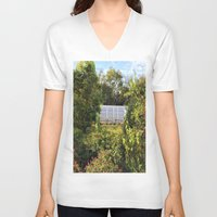 memphis V-neck T-shirts featuring Memphis Train by John Weeden
