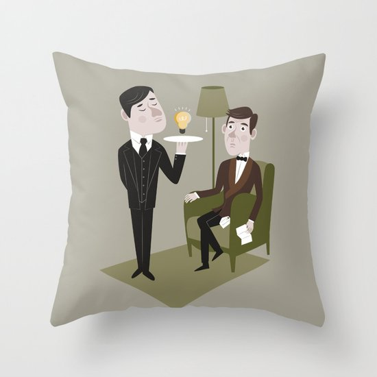 Jeeves & Wooster Throw Pillow