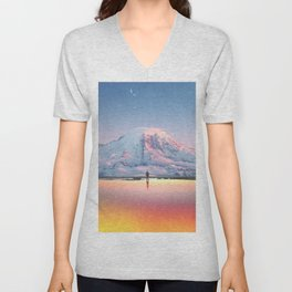Mount Rainier Washington State Unisex V-Neck