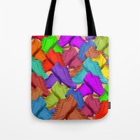 shoes Tote Bags featuring shoes by ErsanYagiz