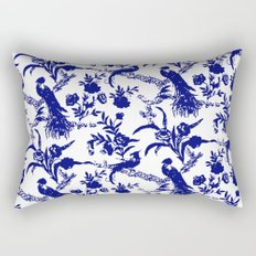 Royal french navy peacock Rectangular Pillow