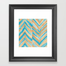 Beach Chevron Framed Art Print