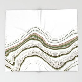 Green Strata Auto Portrait Pattern Throw Blanket
