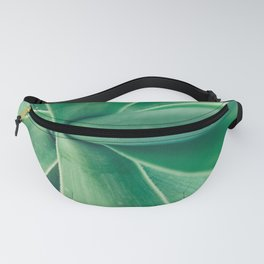Photography of a Tropical Green Plant Fanny Pack