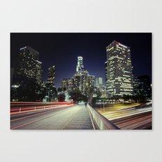 Black River, Your City Lights Shine Canvas Print