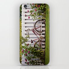 Bike with Fence & Flowers iPhone & iPod Skin