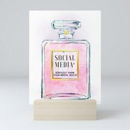 Eau de Social Media Seriously Harm Your Mental Health Mini Art Print