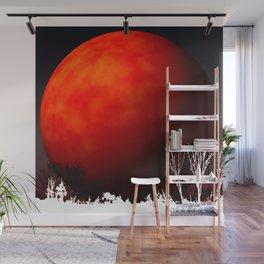 Blood Orange Moon Wall Mural