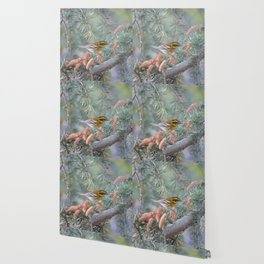 A Townsend's Warbler Spruces Up Wallpaper