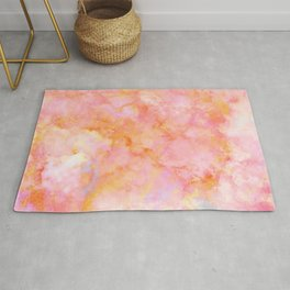 Rosé and Sunny Marble - pink, coral and orange Rug