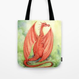 Vermillion Dragon Tote Bag