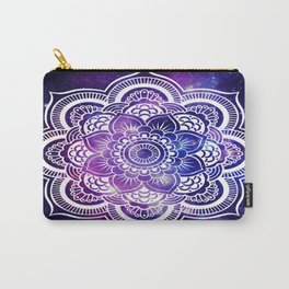 Mandala purple blue galaxy space Carry-All Pouch