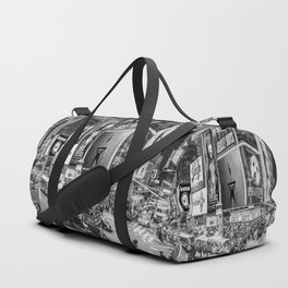 Times Square II (B&W widescreen) Duffle Bag