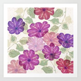 translucent flowers Art Print