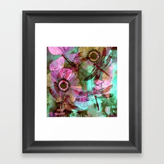 Dragonflies in a Dream Framed Art Print