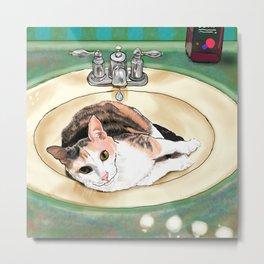 Catrina in the Sink Metal Print