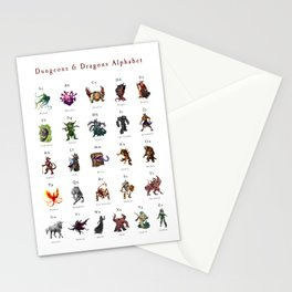 Monster Alphabet Stationery Cards