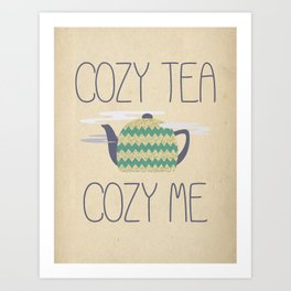 Cozy Tea Art Print