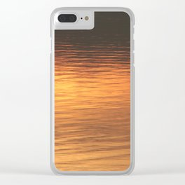 Sunset light on water Clear iPhone Case