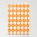 Simple White Roses - Orange BG by biskichips