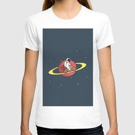Astronaut Bike Blue T-shirt