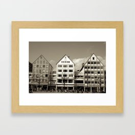 Three German Buildings Framed Art Print