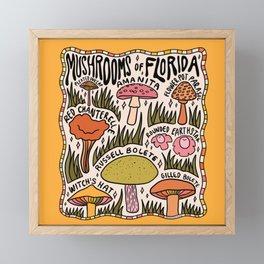 Mushrooms of Florida Framed Mini Art Print