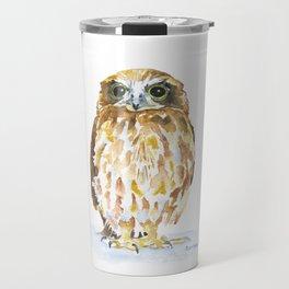 Burrowing Owl Watercolor Travel Mug