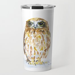 Burrowing Owl Watercolor Travel Mug