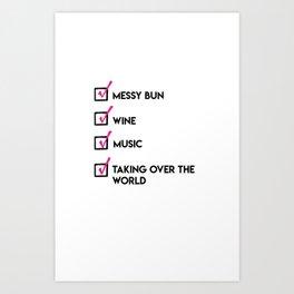 Girl Boss Checklist Art Print