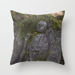 Japanese Statue Throw Pillow