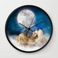 sandman Wall Clocks featuring Good Night Moon by Diogo Verissimo