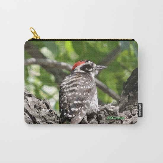 A Nuttal's Woodpecker Up a Tree Carry-All Pouch