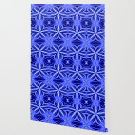 Electric Blue Pattern Wallpaper