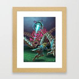 Hero vs. Guardian Framed Art Print