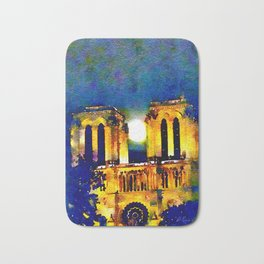 Notre Dame de Paris Full Moon Bath Mat