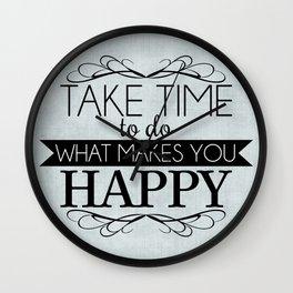 Take Time - Blue Wall Clock