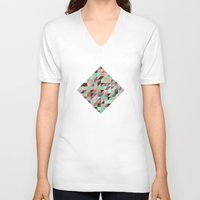triangle V-neck T-shirts featuring Triangle by Crazy Thoom