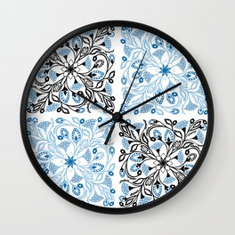 Floral Quarters Wall Clock