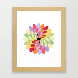 White Water Kayak Flower Framed Art Print