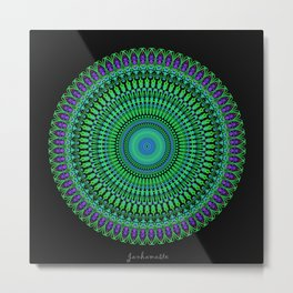 Mint & Heart Metal Print