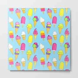Ice cream pattern (Sweet #6) Metal Print