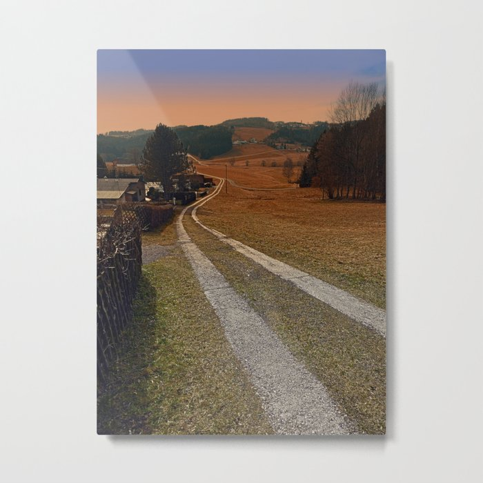 Scenery and a pathway into dawn | landscape photography Metal Print