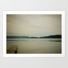 Herring Lake Dock Art Print