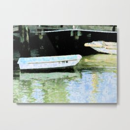 2 Boats At Rest Metal Print