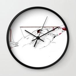 Nudegrafia - 005 fingering Wall Clock