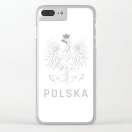 Poland Eagle Emblem Polska Polish Clear iPhone Case