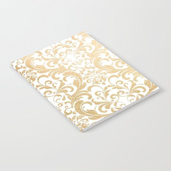 Gold swirls damask #2 Notebook
